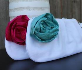 Set of 2 Pleated Clutches: Bridesmaid Gift
