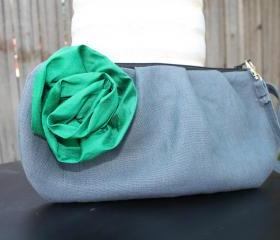 Pleated Zippered Clutch: Bridesmaid, Wedding